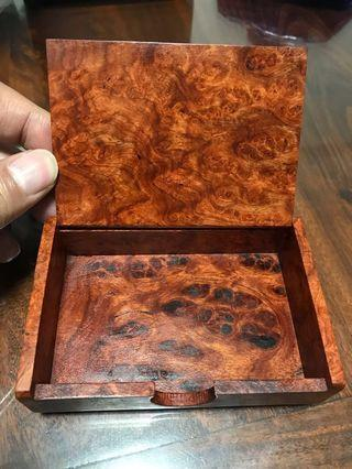 Business card wooden box