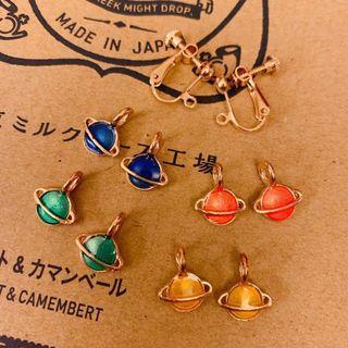 (包郵) Free Shipping Sale! earrings 日式韓式星球美人魚女神耳夾耳環