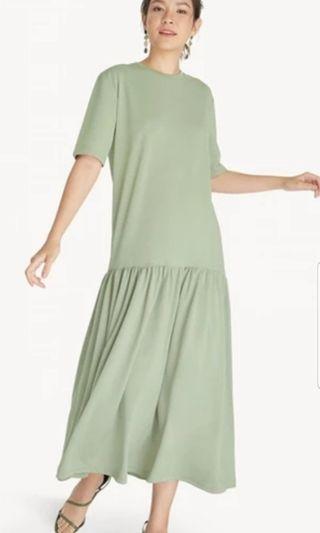 Pomelo maxi straight dress