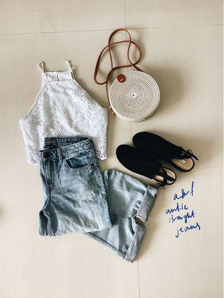 A&F ankle straight jeans