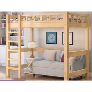 高架床 星月 書桌 實木床 組合床 單人床 3尺床 書架 梯櫃 松木床 碌架床 租房 劏房 公屋 私樓 190512tr
