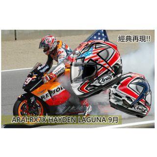 ARAI RX7X Hayden Laguna
