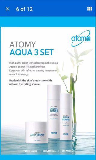 Korea skincare AQUA 3 set