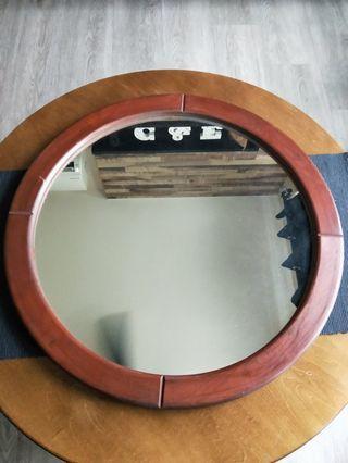 Teak Wood Mirror