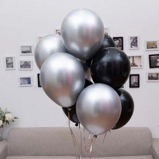Silver and Black Space Balloons #00918