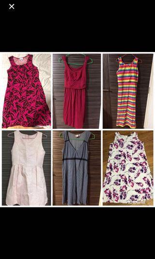 Assorted nursing dresses