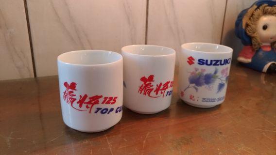 🚚 鈴木機車贏將125白瓷茶杯—古物舊貨、早期企業品牌、陶瓷碗盤收藏相關