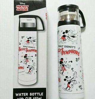 全新 米奇老鼠不銹鋼保暖水壺 水樽 連杯 DISNEY MICKEY MOUSE Water Bottle Stainless