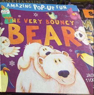 The Very Bouncy Bear 🐻📚Amazing Pop-Up Fun Book by Jack Tickle