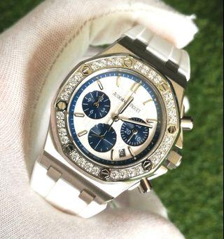 AP RoyalOak Chronograph Diamond Ladies