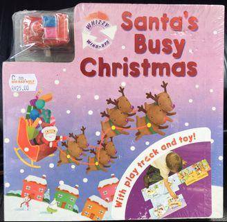 Santa's Busy Christmas 🎅🏻 Fold-Out Play Track Board Book