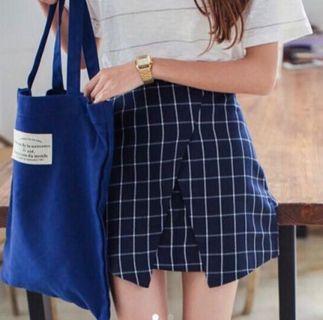 BNIP Overlay Origami Grid Skirt