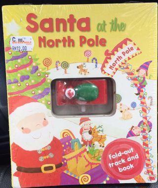 Santa At The North Pole 🎅🏻 Fold-Out Play Track Board Book