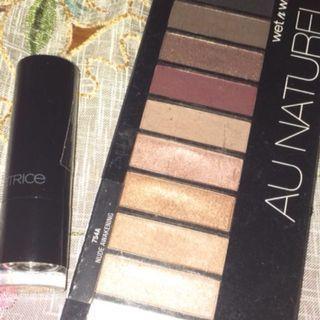 Catrice Lipstick + Wet n Wild Au naturel palette #diskonnih
