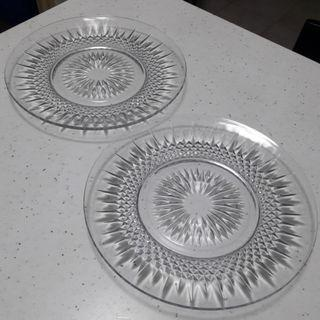 25cm Crystal Clear Glass Plates