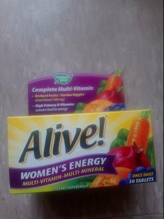 Nature's way Alive!®Women's Energy Multi-vitamins/Multi-minerals