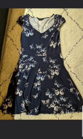 🚚 Dorothy perkins butterfly dress in navy