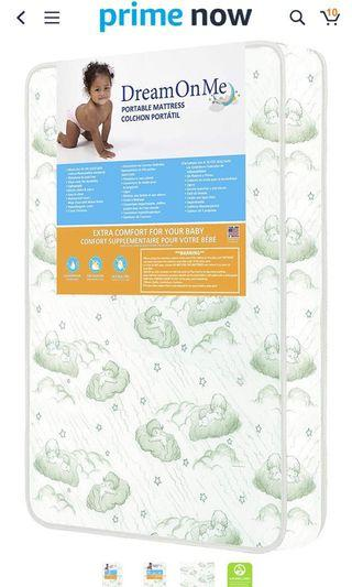 """Dream On Me, 3"""" inner spring Carina Collection Pack N Play Mattress"""
