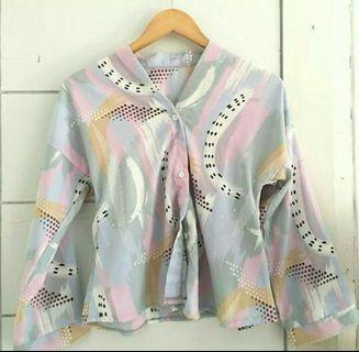 #BAPAU blouse v neck