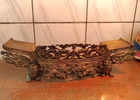 精雕瑞獸銅薦盒—古物舊貨、早期宗教祭拜用品收藏