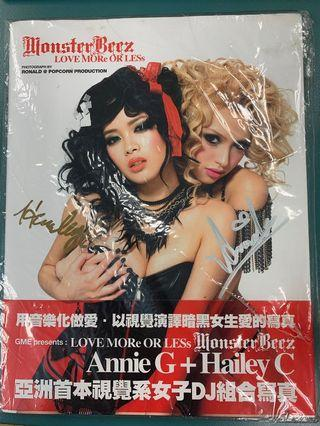Monster Beez AnnieG HaileyC 親筆簽名寫真集
