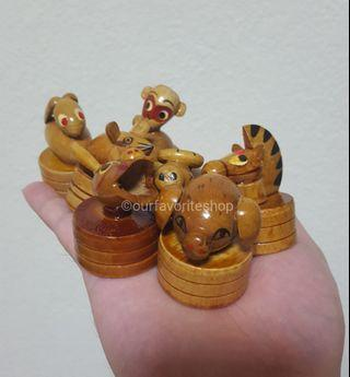 Vintage Wooden Sharpeners x 7