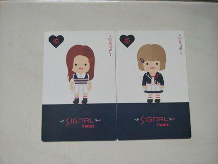 TWICE Signal: Nayeon and Jeongyeon Photocards