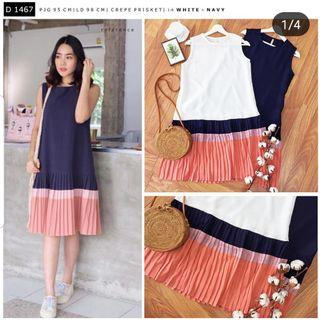 Plisket dress casual