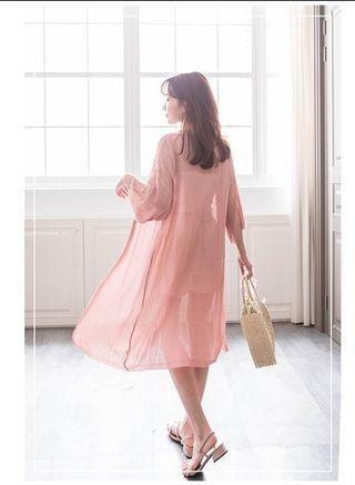 🚚 粉色長罩衫