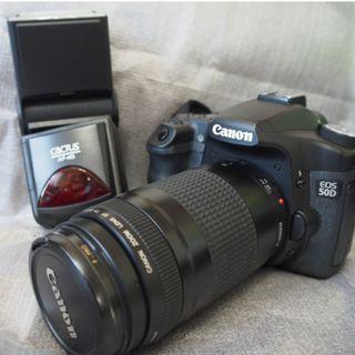 中階CANON 50D +  EF 70-300mm遠攝變焦鏡頭+ 全新TTL 閃光燈