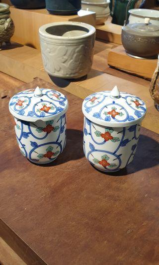 🚚 蓋杯組 兩件   (一件 有傷)7.5x7.5x11cm