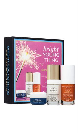 🚚 Sunday Riley Bright Young Thing Visible Skin Brightening Kit