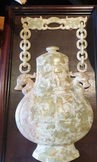 玉壺  牆上掛件  47x29x3cm  (含框尺寸)