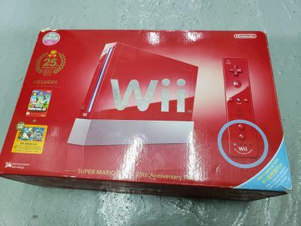 Wii 紅色瑪利奧版連HDD