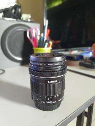 Canon EFS wide angle lens with Image Stabilizer