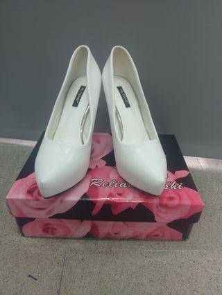 含運費 白色高跟鞋 秀鞋 24.5