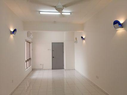 Ceiling Lamps, wall mounted lights, two energy saving inverter air-conditioners, ceiling fans and wall mounted fan, Kitchen Cabinets