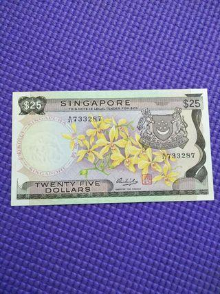 Sg old $25 notes  original condition not washed