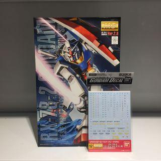Bandai MG RX-78-2 Gundam Ver. 2 & Waterslide Decal