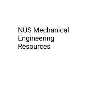 NUS Mechanical Engineering Resources