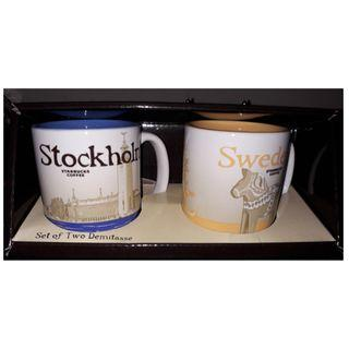 Starbucks Coffee - Set of Two Demitasse from Sweden