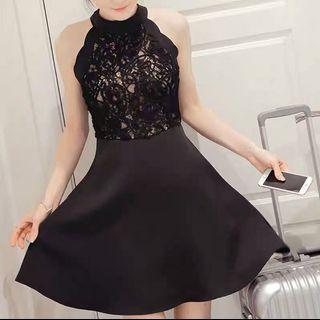 🚚 BNWT: Elegant Black Lace A-Line Dress