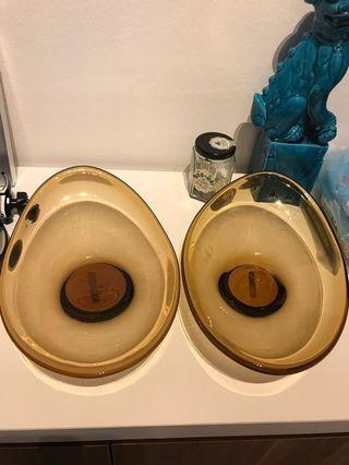 🚚 Classy Egg shaped glass bowls