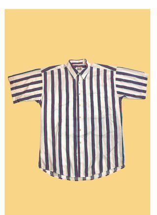 🚚 FARAH 直條紋短襯衫 古著