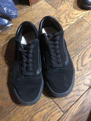 Vans 經典 全黑 滑板鞋