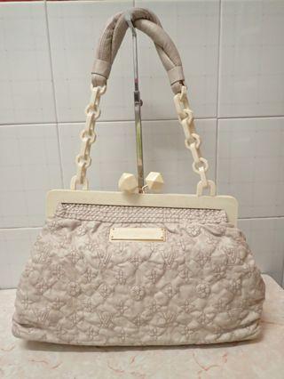 Lv monogram beige leather olympe bag