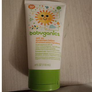 Babyganics zinc titanium dioxide sunscreen
