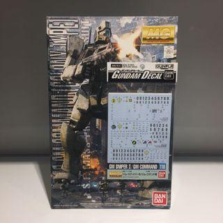 Bandai MG GM Command & Waterslide Decal