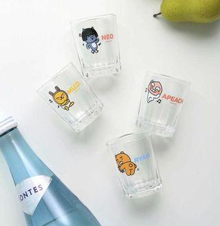 [PO] KAKAO FRIENDS SHOTGLASS SET RYAN APEACH MUZI NEO GLASS CUP MUG BOTTLE TUMBLER