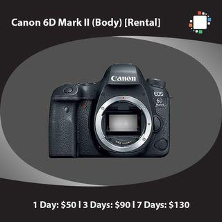 Canon 6D Mark II (Body) [Rental]
